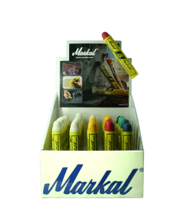DISPLAY Markal B Paintstik (x25 - 12 White, 6 Yellow, 2 Red, 2 Blue, 2 Green, 1 Black)