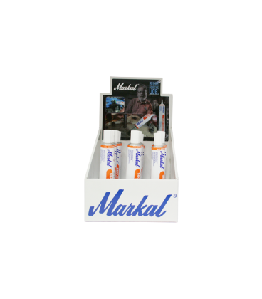 DISPLAY Markal Security Check Paint Marker (x12 - 3 White, 3 Yellow, 2 Red, 1 Blue, 1 Green, 1 Black, 1 Orange)