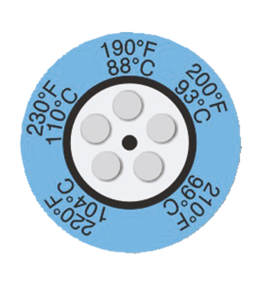 THERMAX CLOCK INDICATORS - 1 [PACK10] [104F-130F] (THE05C-1)