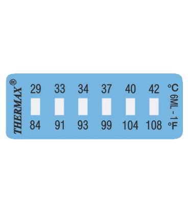 THERMAX 6 LEVEL MINI STRIP-2 [PACK10] [111F-144F] (THE06S-2)