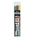 Markal Trades-Marker Dry - Refill Pack (x2 Graphite, x2 Red, x2 Yellow)