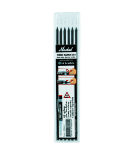 Markal Trades-Marker Dry - Refill Pack (x6 Graphite)